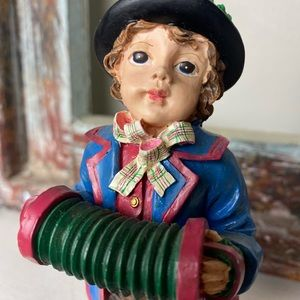 Vintage Princess House Christmas Boy w/accordion